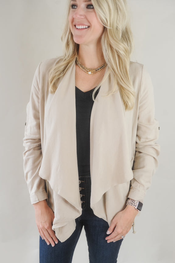 Jaylee Khaki Cinch Jacket