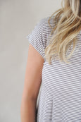 Back Twist Stripe Tee