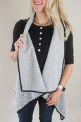 Reversible Grey Teddy Fur Vest