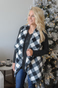 One Size Faux Fur Buffalo Check Vest