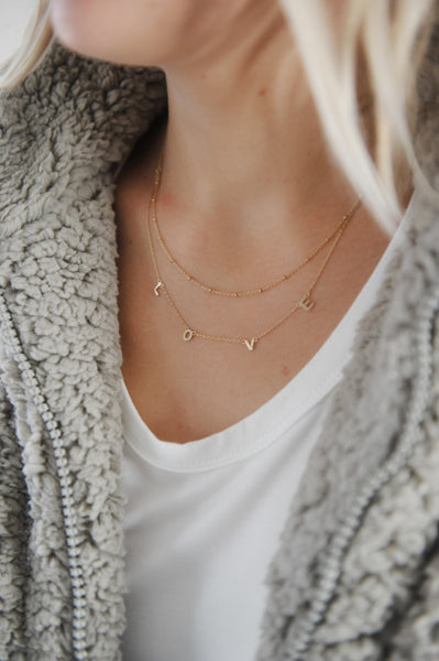 Double Layer LOVE Necklace