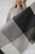 Grey Scale Big Check Scarf