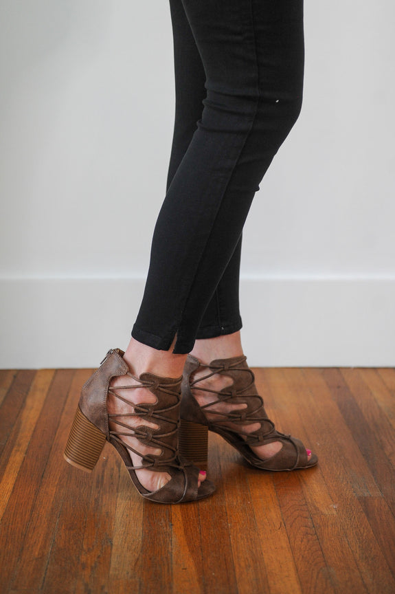 Frankie Strappy Ankle Bootie