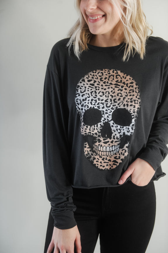 Leopard Skull Long Sleeve Top