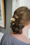Set of 3 Gold Leaf Hair Pins