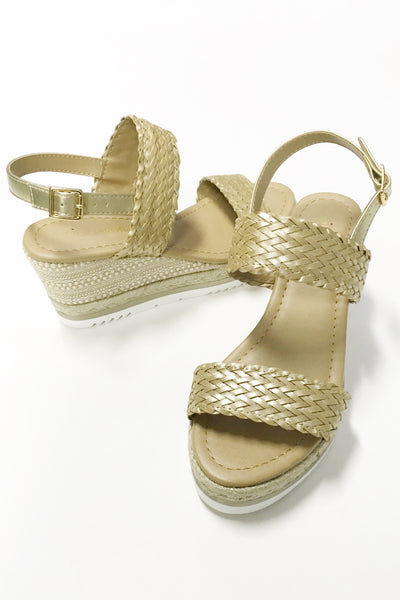 Lydia Woven Wedge Sandal