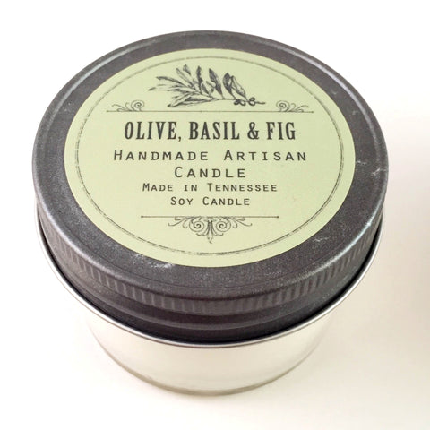 Mini Jar Candle, Olive Basil & Fig