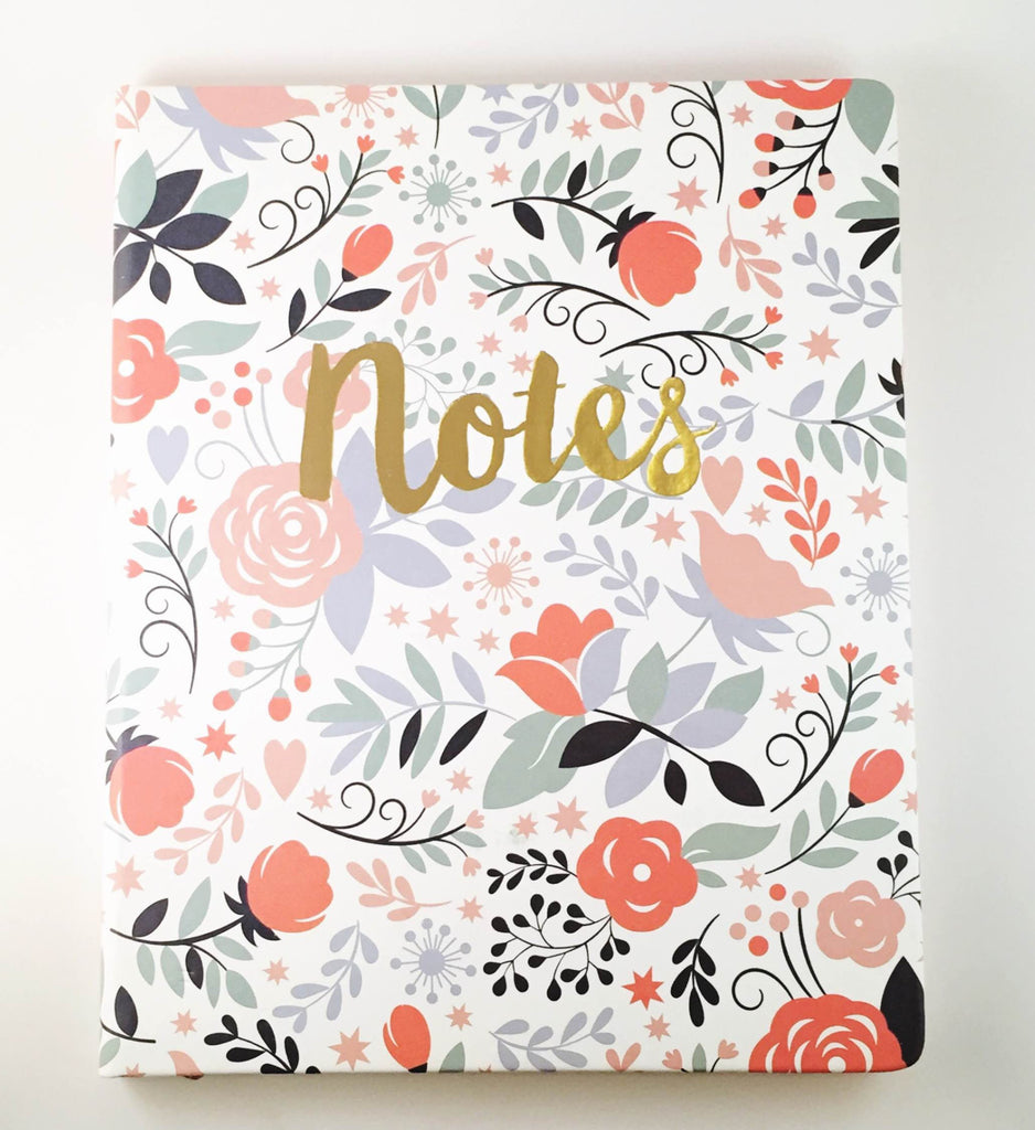 "Floral ""Notes"" Notebook"