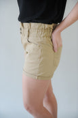 Heidi High Waist Double Button Elastic Short