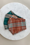 Adjustable Plaid Adult Face Mask