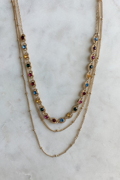 Multi Color Eye Dainty Necklace