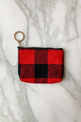 Zipper Keyring Coin & Card Pouch