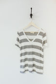 Katie Striped V-Neck Tee