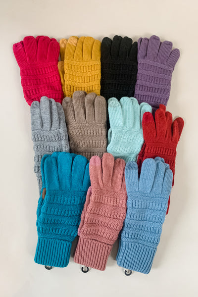 CC Solid Ribbed Gloves