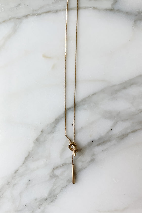 Knot Lariat Necklace