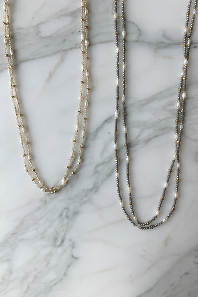 "60"" Pearl & Bead Necklace"