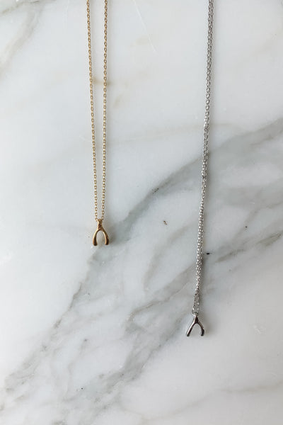 Dainty Wishbone Necklace
