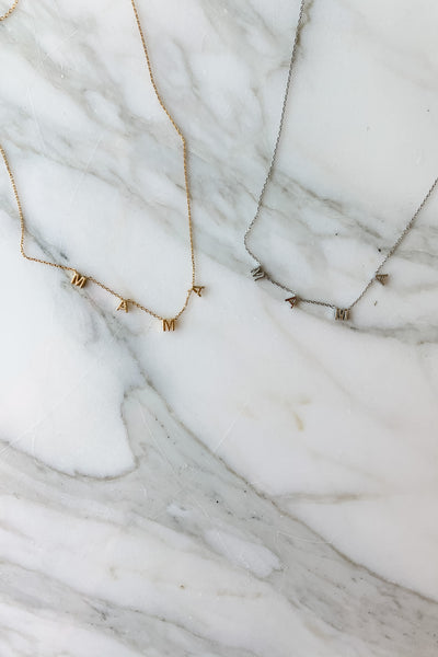 Mama 18K Gold Dipped Necklace