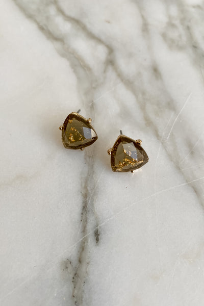 Triangle Shape Resin Stud Earring