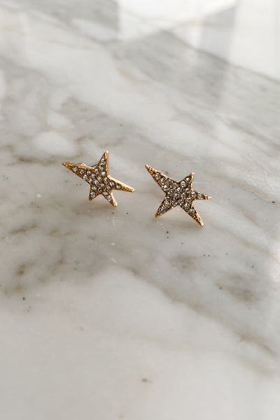 Celestial Star Shave Crystal Earrings