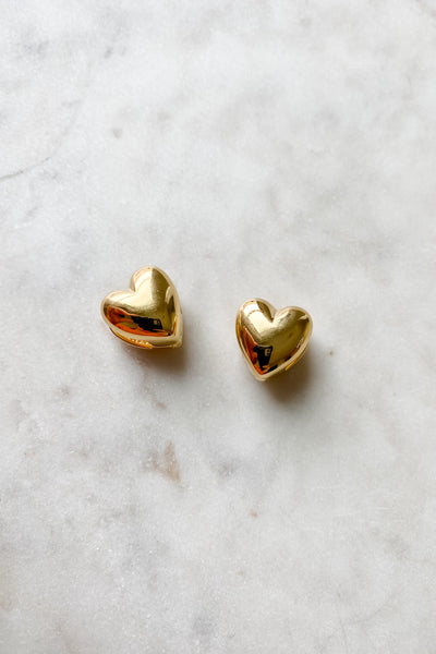 Heart Huggie Gold Earrings