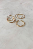 6 pc Skinny Gold Ring Set