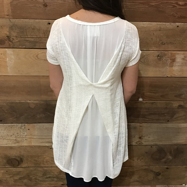Harmony Ivory Short Sleeve Top