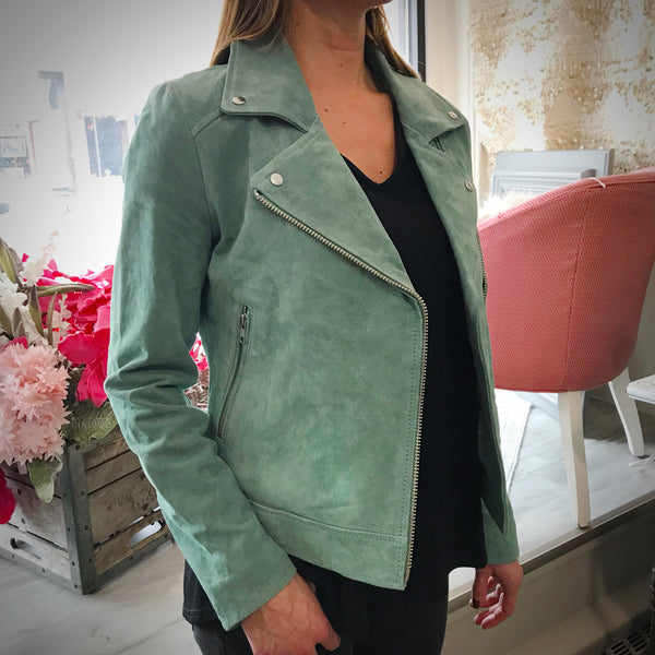 Jade Genuine Leather Moto Jacket