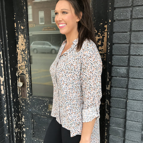Elisa Mixed Floral Button Down
