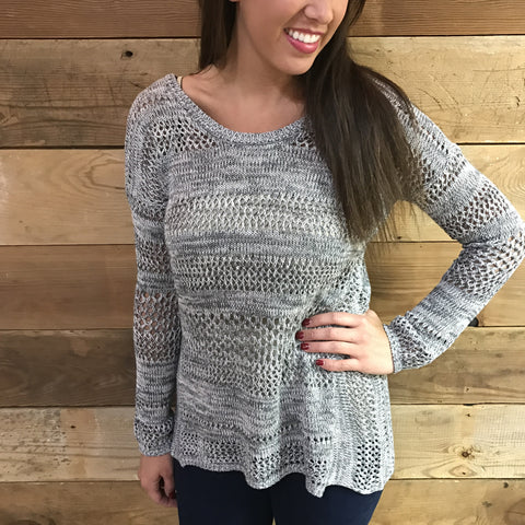 Raven Open Weave Sweater