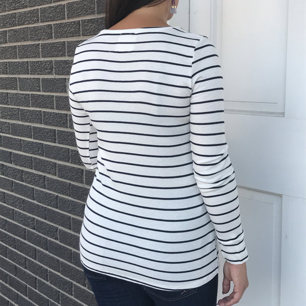 Cal Stripe Knit Top