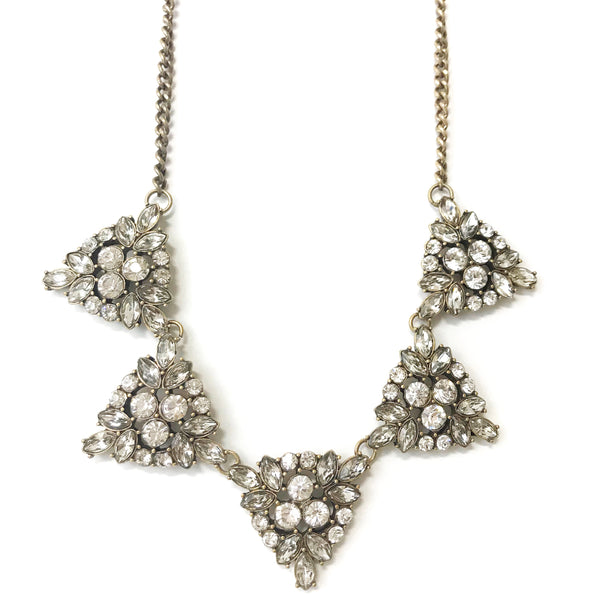 Triangular Crystal Statement Necklace