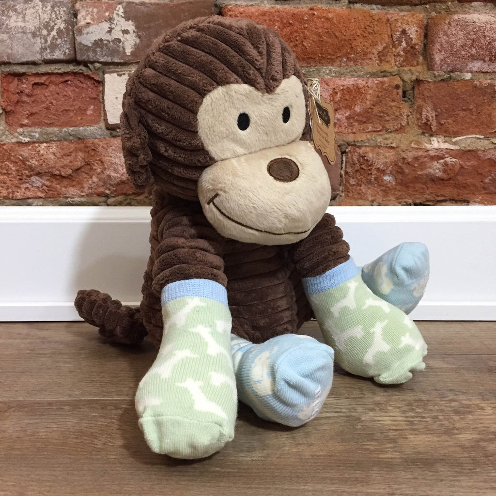 Plush Monkey Sock Buddy