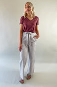 Stripe Wide Leg Long Pants