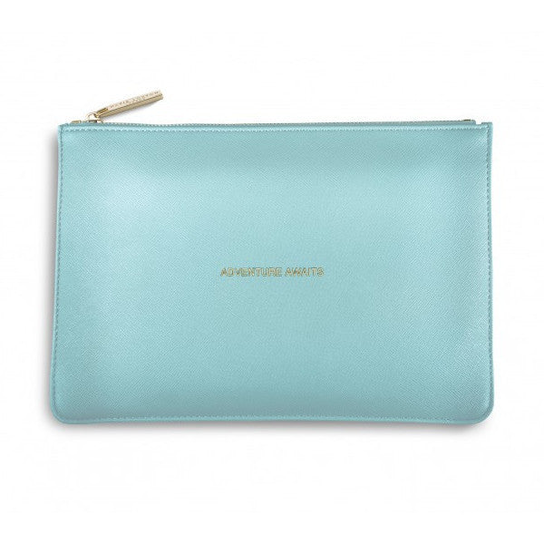 The Perfect Pouch- Metallic Aqua