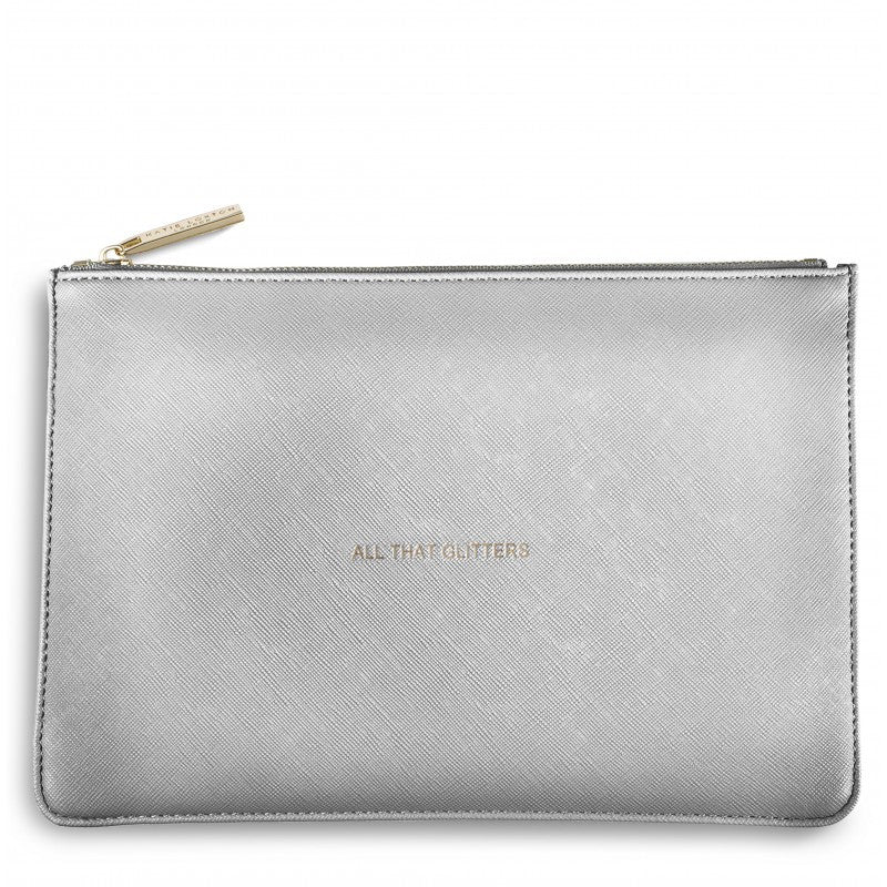 The Perfect Pouch - Metallic Silver