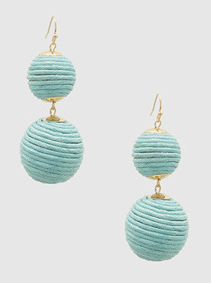 Double Threaded Ball Earring