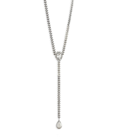 Finley Silver Y Necklace
