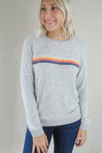 Ginger Stripe Super Soft Heather Grey Top