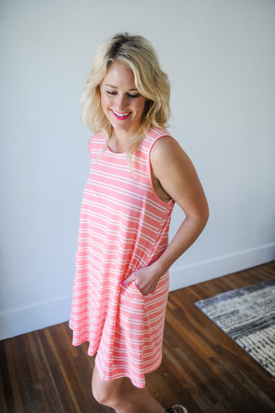 Lilian Striped Knit Dress