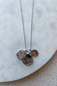 Long Dainty 3 Coin Necklace