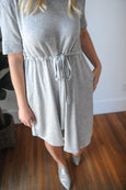 Mora T-Shirt Dress with Cinched Waist