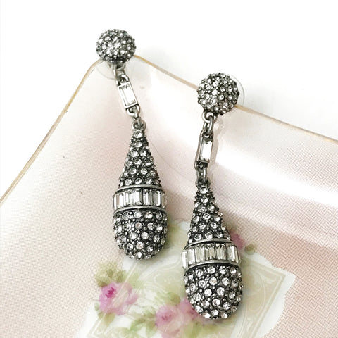 Art Deco Pave Drop Earring