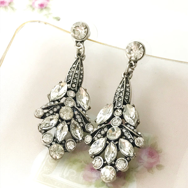 Vintage Inspired Art Deco Drop Earring