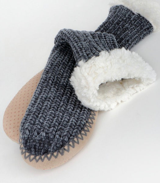 Plush Chenille Sock Slipper