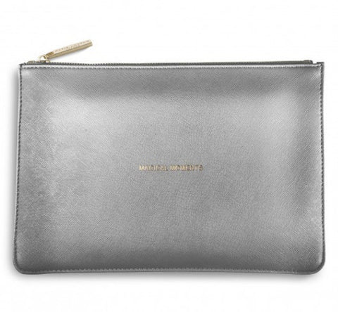 The Perfect Pouch - Metallic Charcoal