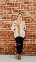 Chenille Cable Knit Slouch Cardigan