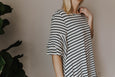 Robin Striped Knit Swing Dress