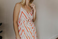 Carol Mid Length Zig Zag Dress