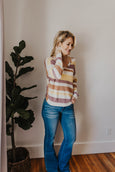 Sharona Multi-Color Twist Back Sweater